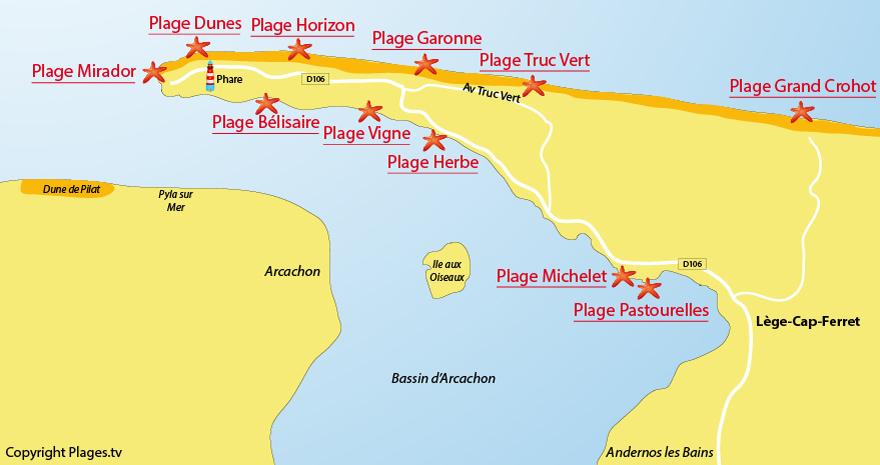 Les plages du Cap Ferret